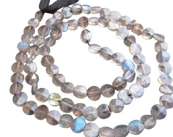 Faceted Labradorite Beads, 5mm Coin, Luxe AAA, Loveofjewelry, Weddings, SKU 813