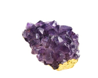Amethyst Cluster Druzy Pendant, Purple Amethyst Druzy Pendant, Amethyst Pendant, Goldplated Edging Connector, Double Bail, SKU 3860