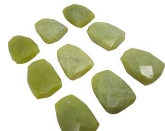 Olive Jade Pendant, Olive Jade Briolette, Focal, 20mm x 24mm, SKU 4711A