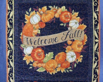 Wall Hanging Quilt Welcome Fall Door Banner Autumn Harvest Wall Decor