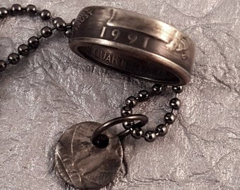 1991 Coin Ring & Necklace Set Year Quarter MS0905-TYR1991