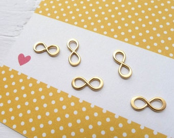 Gold Infinity Charm Teeny Tiny Infinity Link Vermeil Component for Jewelry Necklaces or Bracelets (LNGS2971)