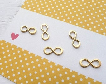 Gold Infinity Charm Teeny Tiny Infinity Link Vermeil Component for Jewelry Necklaces or Bracelets