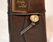 Large Deeply Rooted Leather Journal or Sketchbook