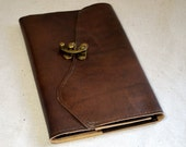 2017 Rich Brown Leather Planner with Latch- Refillable