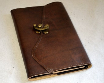 2016 Rich Brown Leather Planner with Latch- Refillable