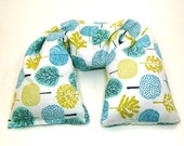 Microwave Neck Wrap - Flax Seed Heating Pad - Organic cotton Flannel - scented or unscented with Organic herbs - Christmas gift
