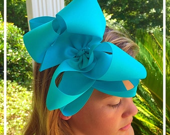 "6"" Double Layered Boutique Bow XLARGE"