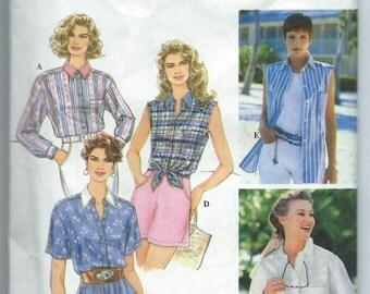 Simplicity 9014 Misses' Set of Shirts - Size 12-14-16 - Uncut Vintage Pattern