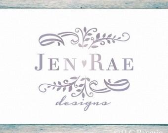 Filigree  Logo, Jewelry Logo, Custom Logo, Photography Logo, Business Logo,  Premade Logo, Ombre Logo