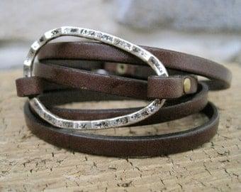 Leather Custom Charm Wrap Bracelet - Item 2881
