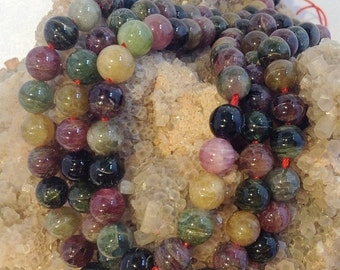50% Mega Sale 8mm Cat's Eye Tourmaline Round Gemstone Beads