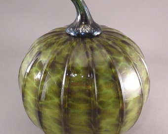 Handblown Glass LARGE Pumpkin by Tazza Glass