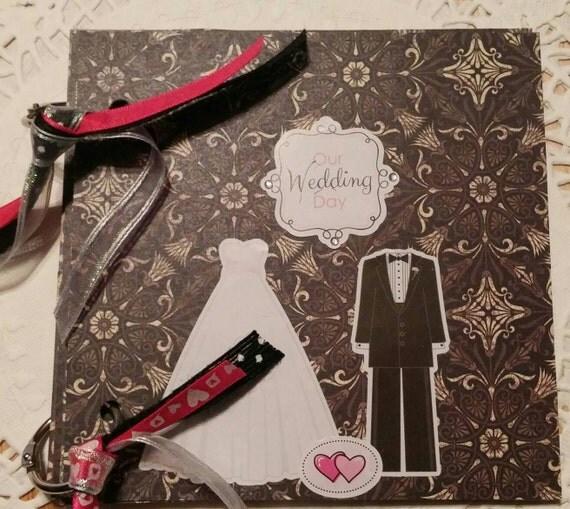 Wedding Mini Scrapbook Album Premade Pages Brag Book Smash