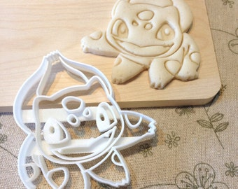 Bulbasaur Cookie Cutter - Pokemon Go Fondant Icing Cake Cupcake Topper Iced Sugar Biscuit Mould Birthday Party Anime Pocket Monsters Pikachu
