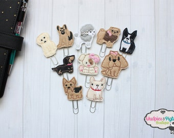 Dog Mom Paper Clip, planner bookmark, New Puppy lab, pug, german shepherd, poodle chihuahua, fur baby