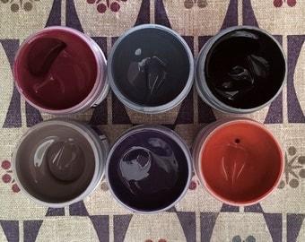 Fabric Paint Set - Urban Colors - Starter Set - Fabric Printing - Six Custom Colors
