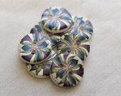 Purple Millifilori Button  3/4 inch Button No. 82
