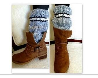 KNIT Leg Warmers -KNITTING PATTERN - Make Any Size - women, girls, winter clothing and accessories, legwarmers, boot socks #898