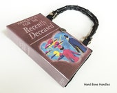 Handbook for the Recently Deceased Recycled Book Purse - Spirit Guide Book Cover Purse - Beetlejuice Book Clutch