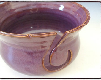 Yarn Bowl in Purple with Split Rim by misunrie