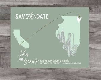 Chicago Save the Date – Destination Wedding Save the Date - Chicago, Illinois