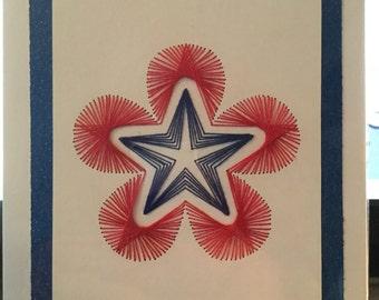 Red, White & Blue Star