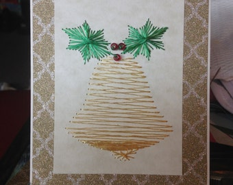 Gold Bell Christmas Card