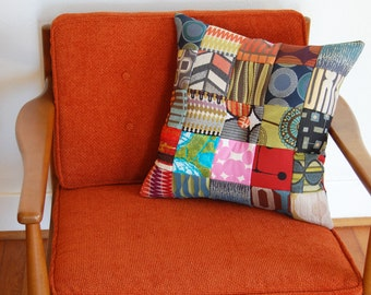Patchwork Pillow Handmade Accent Pillow Decorative Pillow