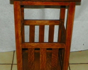 Quartersawn Oak Mission Plant Stand / Side Table (PS62)