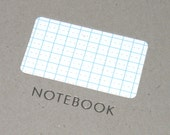 Lined notebook with diecut and foiled covers