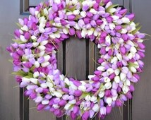 FALL WREATH SALE Custom Spring Wreath, Spring Decor, Mother's Day Wreath,  Wall Decor, Custom Colors, Spring Decoration  The Original Tulip