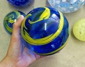 Custom Swirl - small - yellow and blue