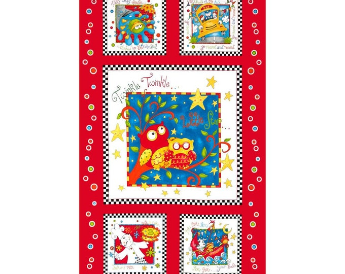 Rhyme Time Cotton Panel by Delphine Cubitt for Henry Glass