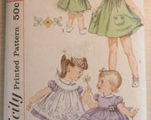 1950s Simplicity 3807 toddler's dress, pinafore and panties Toddler size 4