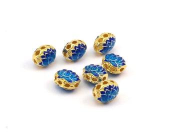 Enamel Brass Chrysanthemum Connector Beads (11x9mm) L06 R075