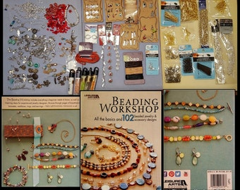 Jewelry Destash - Beading Workshop Leisure Arts Book - Chain - Charms - Beads and So Much More - Ready To Ship