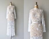 Irish Eyes wedding gown   vintage crochet wedding gown   crochet lace wedding gown