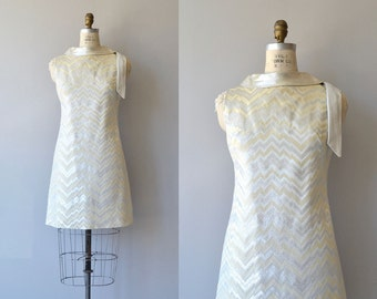 Mixed Metals dress | vintage 1960s dress | mod metallic 60s dress