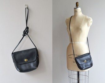 Coach carryall bag | vintage Coach shoulder bag | cross body black Coach purse