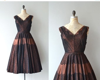 25% OFF.... Fortune's Darling dress | vintage 1950s dress | metallic 50s party dress