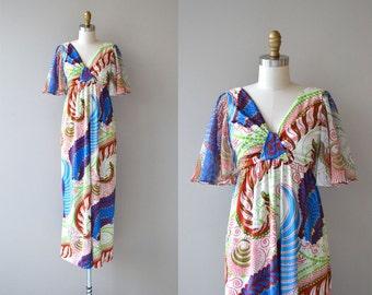 West Meets West dress | vintage 1970s dress | 70s maxi dress