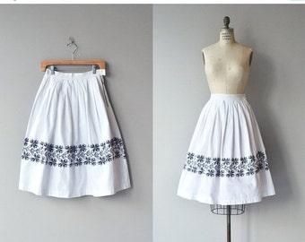 25% OFF SALE Nordica skirt | vintage 1950s skirt | cotton 50s skirt