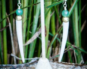 Tusk Shell, Tusk Earrings, Tusk Shell Earrings, Earrings For Bridesmaids, Earrings for Wedding, Earrings White Opaque, Dentalium Earrings