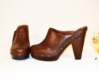 Vintage Shoes Zodiac Wood Brown