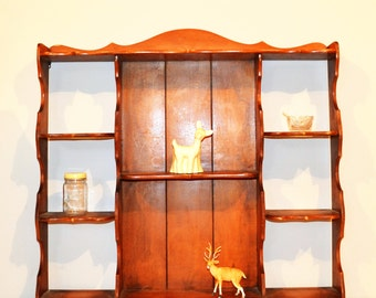 Vintage Wood Wall Shelf Maple for Any Room
