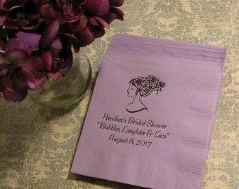 Wedding shower napkins bachelorette party personalized napkins set of 50 napkins