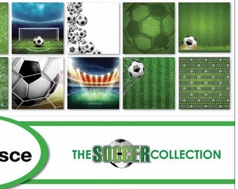 The Soccer Collection Sports Scrapbook Papers & Stickers - Individual or Page Kit by Reminisce