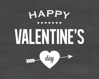 Happy Valentines Day Wall Decal DB398