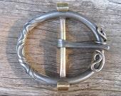 Blacksmith Iron Buckle Hand made Custom Brass Silver
